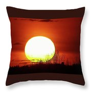 Columbia Gorge Sunset Throw Pillow