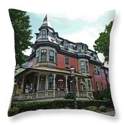 Columbia House Watercolor Throw Pillow