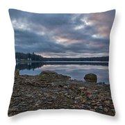 Columbia Lake Sunset Throw Pillow