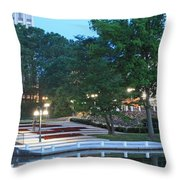 Columbia Lakefront Panorama Throw Pillow