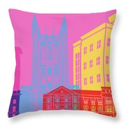 Columbia Mo Skyline Pop Throw Pillow