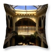 Columbia Restaurant Work Number Two Throw Pillow