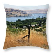 Columbia River - Biggs And Maryhill State Park Throw Pillow