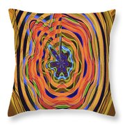 Columbia River Abstract #8045 Throw Pillow