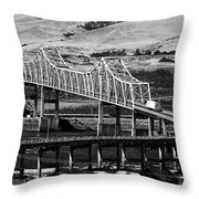 Columbia River Crossing Throw Pillow