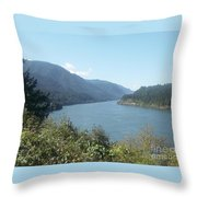 Columbia River Gorge 2 Throw Pillow