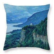 Columbia River Gorge Panoramic Throw Pillow