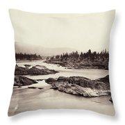 Columbia River: Kettle Falls Throw Pillow