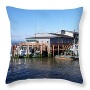 Columbia River Port Throw Pillow