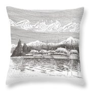 Columbia River Raft Up Throw Pillow