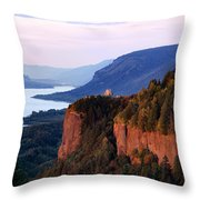 Columbia River Vista House Throw Pillow
