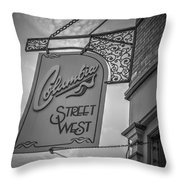 Columbia Street Throw Pillow by Michael Colgate