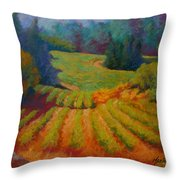 Columbia Valley Vineyard Throw Pillow