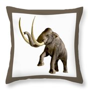 Columbian Mammoth Throw Pillow