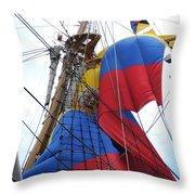 Columbian Mast Throw Pillow
