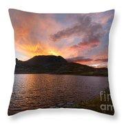 Columbine Lake Sunset - Weminuche Wilderness - Colorado Throw Pillow