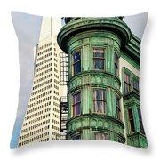Columbus Avenue - San Francisco, California Throw Pillow