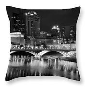 Columbus Black Night Throw Pillow