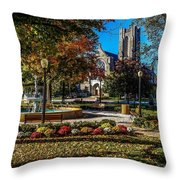 Columbus Day In The Park Throw Pillow
