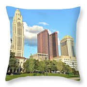 Columbus From The Park Throw Pillow