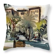Columbus Park Bayshore Tampa Throw Pillow