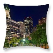 Columbus Park Boston View Throw Pillow