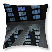 Column Stain Blue Throw Pillow