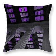 Column Stain Purple Throw Pillow