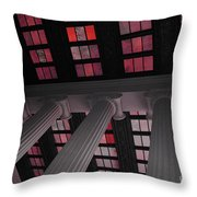 Column Stain Red Throw Pillow