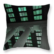 Column Stain Teal Throw Pillow