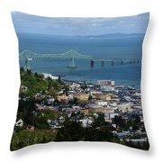 Column View Throw Pillow