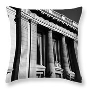 Columns And Buildings Throw Pillow