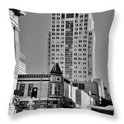 Columns And Skyscrapers Throw Pillow