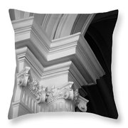 Columns At Hermitage Throw Pillow