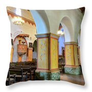 Columns At San Juan Bautista Mission Throw Pillow