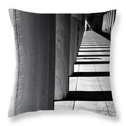 Columns In Athens Throw Pillow