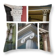 Columns Of New Orleans Collage Throw Pillow