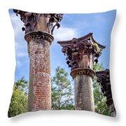 Columns Of Windsor Ruins Throw Pillow