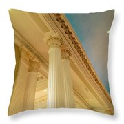 Columns To Heaven Throw Pillow