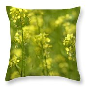 Colza Throw Pillow by Issabild -