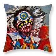 Comanche Dance Throw Pillow