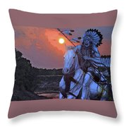 Comanche Spirit Throw Pillow