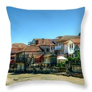Combarro Village Waterfront Panorama Throw Pillow