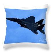 Combat Jet Throw Pillow