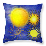 Combating Suns Throw Pillow