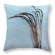 Combie Lake Reeds Throw Pillow