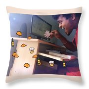 Combination Of Photo And Art Jerry Throw Pillow
