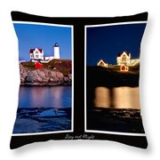 Combined Nubble Throw Pillow