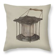 Combined Stove And Lantern Throw Pillow