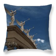 Come Blow Your Horn - Angels And Trumpets - Caesars Palace Las Vegas Throw Pillow
